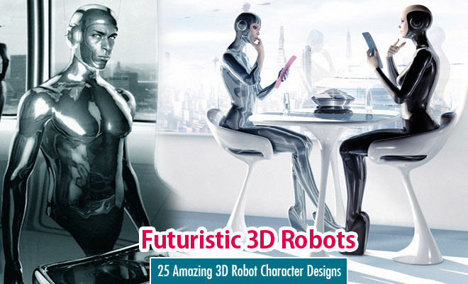 25 Amazing Futuristic 3D Robot Character Designs by Benedict Campbell